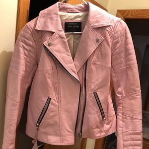 BNWOT 100% leather pink ASOS river island jacket